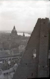 ARH NL Koberg 578, Rundblick von der Marktkirche auf das zerstörte Stadtzentrum, Hannover, 1947