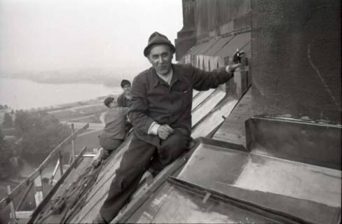 ARH NL Koberg 611, Reparatur der Rathauskuppel, Hannover, 1949