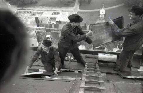 ARH NL Koberg 612, Reparatur der Rathauskuppel, Hannover, 1949