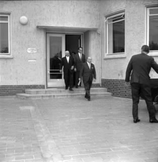 ARH BA 2396, Flughafen, Langenhagen - Besuch von MP Diederichs und Baustelle der neuen Startbahn, 1965