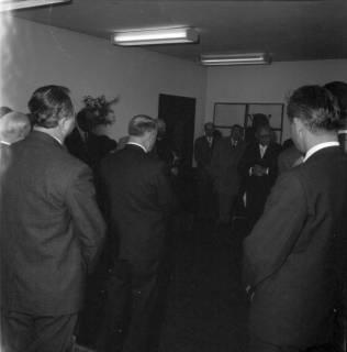 ARH BA 2403, Flughafen, Langenhagen - Besuch von MP Diederichs und Baustelle der neuen Startbahn, 1965