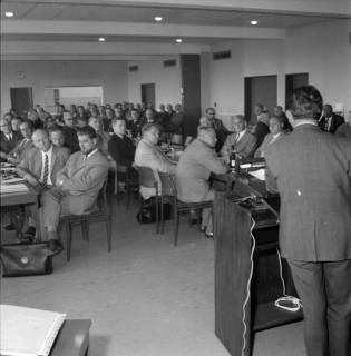 ARH BA 2487, Bürgermeisterversammlung im Verkehrsamt, Ronnenberg, 1966