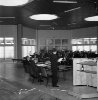 ARH BA 2510, Kreistagssitzung in der Geschwister-Scholl-Schule, Letter, 1966