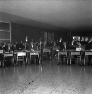ARH BA 2531, Kreistagssitzung in der Pestalozzischule, Misburg, 1968