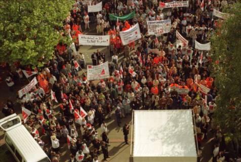 ARH BA 2712, Warnstreik der Gewerkschaft ver.di vor dem Kreishaus, Hannover, 2001