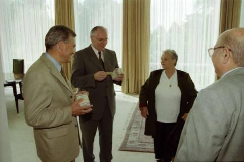 ARH BA 2778, LT-Präs. Wernstedt empfängt LR Arndt und Benny Gurfinkel, 2001