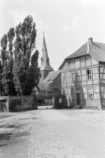 ARH NL Dierssen 0117/0017, Blick von der Domäne zur Kirche, 1948