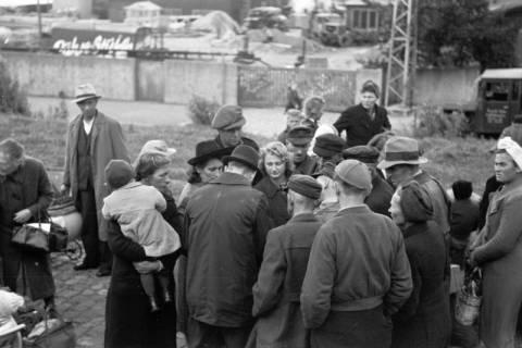 ARH NL Dierssen 0127/0008, Flüchtlingszug via Schleswig-Holstein kommend, 1948