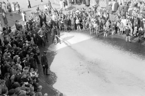 ARH NL Dierssen 0130/0004, Vorführung der Feuerwehr, Springe, 1948