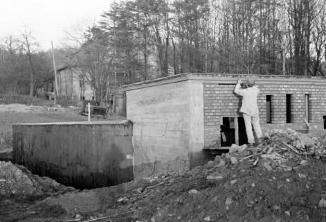 ARH NL Dierssen 0141/0010, Wasserbehälter im Bau, Bad Münder, 1949