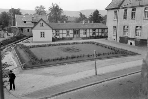 ARH NL Dierssen 0148/0019, Rathausplatz, um 1949
