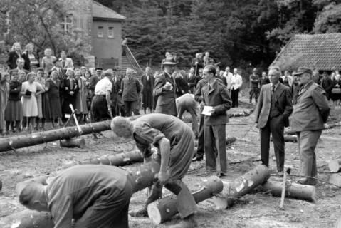 ARH NL Dierssen 0152/0008, Forstarbeiter - Betriebsfeier, 1949