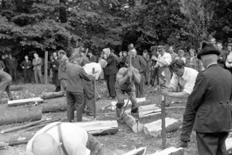 ARH NL Dierssen 0152/0012, Forstarbeiter - Betriebsfeier, 1949