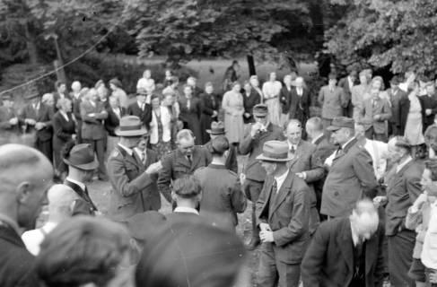 ARH NL Dierssen 0152/0015, Forstarbeiter - Betriebsfeier, 1949