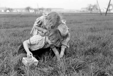 ARH NL Dierssen 0156/0017, Ostereiersuchen - Kinder von Familie Fröhlich, 1949