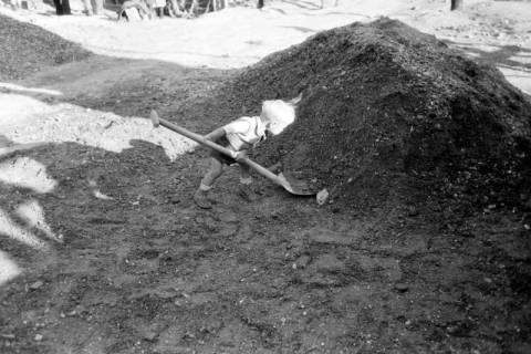 ARH NL Dierssen 0195/0023, Baustelle Selbsthilfe Baugemeinschaft, 1949
