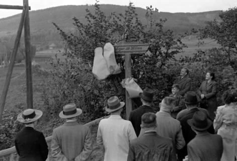 ARH NL Dierssen 0211/0018, Wegweiser Jägerallee, 1949