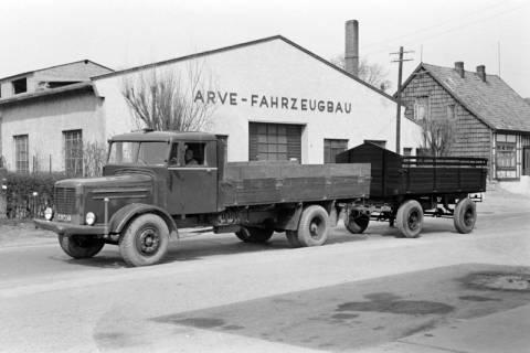 ARH NL Dierssen 1015/0028, Arve Fahrzeugbau - LKW mit Anhänger, 1950