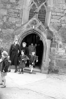 ARH NL Dierssen 1017/0009, Umzug der Schulanfänger, 1950