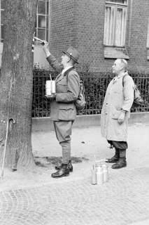 ARH NL Dierssen 1028/0023, Wegmarkierung vom Wanderverein, Springe?, 1950