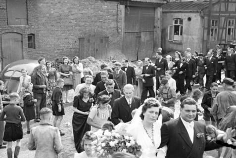ARH NL Dierssen 1031/0001, Hochzeit Gassmann, Völksen, 1950