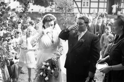 ARH NL Dierssen 1031/0004, Hochzeit Gassmann, Völksen, 1950