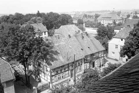 ARH NL Dierssen 1034/0021, Blick vom Turm der Kirche St. Lukas, Pattensen, 1950