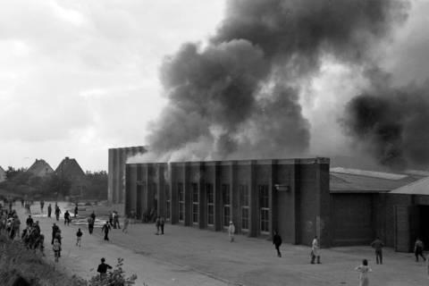 ARH NL Dierssen 1037/0007, Brand der Lackiererei Bähre, Springe, 1950