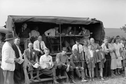 ARH NL Dierssen 1051/0004, Zuschauer auf einem Reitturnier, Springe, 1950