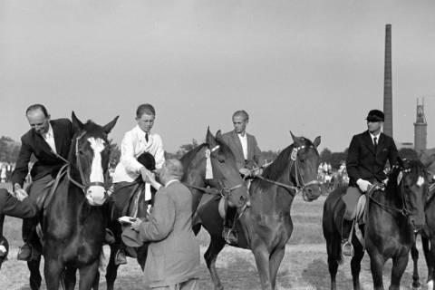 ARH NL Dierssen 1051/0008, Siegerehrung auf einem Reitturnier, Springe, 1950