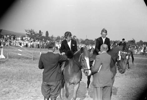 ARH NL Dierssen 1051/0009, Siegerehrung auf einem Reitturnier, Springe, 1950