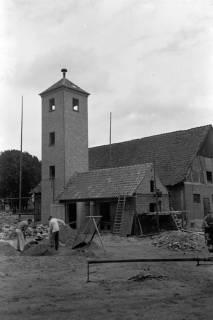 ARH NL Dierssen 1075/0003, Bau des Feuerwehrturms, Fuhrberg, 1950