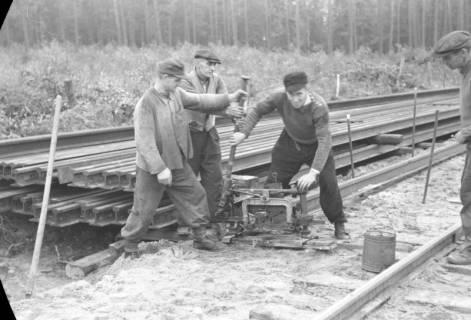 ARH NL Dierssen 1086/0001, Bau von Bahngleisen, Hänigsen, 1950