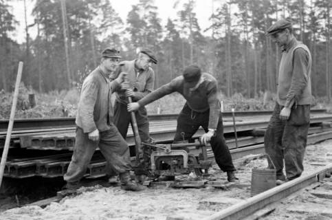 ARH NL Dierssen 1086/0002, Bau von Bahngleisen, Hänigsen, 1950