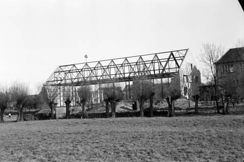 ARH NL Dierssen 1133/0016, Rohbau der Turnhalle, Pattensen, 1951