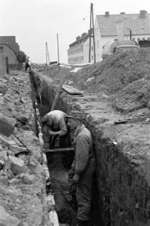 ARH NL Dierssen 1135/0015, Bau der Kanalisation in der Schulstraße, Springe, 1951