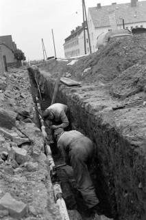 ARH NL Dierssen 1135/0016, Bau der Kanalisation in der Schulstraße, Springe, 1951