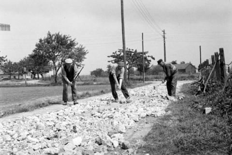 ARH NL Dierssen 1137/0002, Straßenbau in der Rosenstraße, Bennigsen, 1951