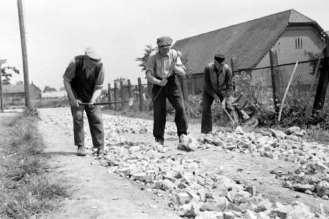 ARH NL Dierssen 1137/0004, Straßenbau in der Rosenstraße, Bennigsen, 1951