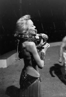 """ARH NL Dierssen 1178/0016, """"Schlangenmädchen"""" im Cirkus Busch aus Berlin, Seesen, 1952"""