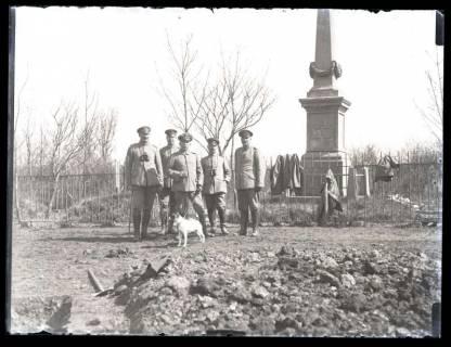 ARH NL Kageler 17, 1. Weltkrieg, Offiziere auf den Schanzplatz, Frankreich, zwischen 1914/1918