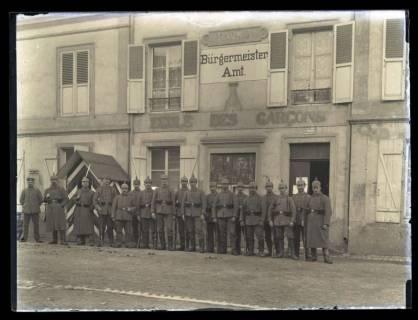 ARH NL Kageler 25, 1. Weltkrieg, Bürgermeisteramt in Maizières-lès-Metz, Frankreich, zwischen 1914/1918