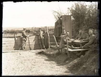 ARH NL Kageler 41, 1. Weltkrieg, Soldaten an der Frontlinie, Frankreich, zwischen 1914/1918