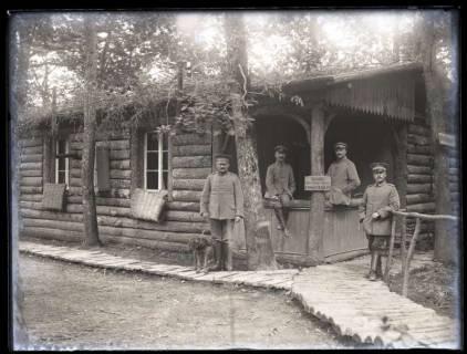 ARH NL Kageler 48, 1. Weltkrieg, Blockhütte als Unterkunft des Kompanieführers, Frankreich, zwischen 1914/1918