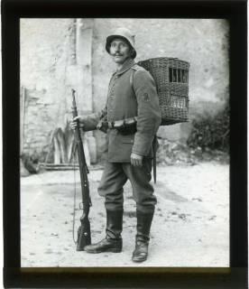 ARH NL Kageler 84, 1. Weltkrieg, Brieftaubenwärter in Mailly, Frankreich, zwischen 1914/1918