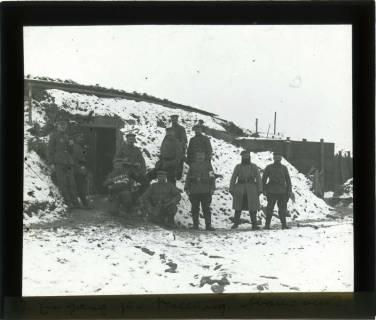 ARH NL Kageler 101, 1. Weltkrieg, Eingang zur Stellung, Abaucourt, Frankreich, zwischen 1914/1918