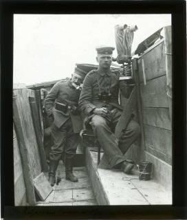 ARH NL Kageler 104, 1. Weltkrieg, Scherenfernrohr, Abaucourt, Frankreich, zwischen 1914/1918