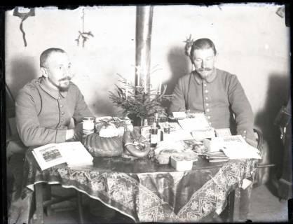 ARH NL Kageler 153, 1. Weltkrieg, Weihnachten 1915 im Quartier, Gravelotte, Frankreich, 1915