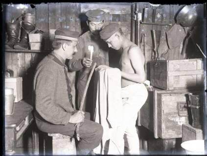 """ARH NL Kageler 157, 1. Weltkrieg, """"Entlausung"""", Frankreich, zwischen 1914/1918"""