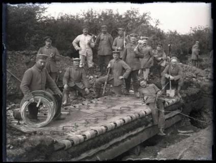 ARH NL Kageler 176, 1. Weltkrieg, Unterstandsdeckung (Drahtrolle), Frankreich, zwischen 1914/1918